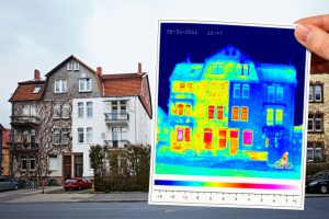 Thermalbild eines Hauses