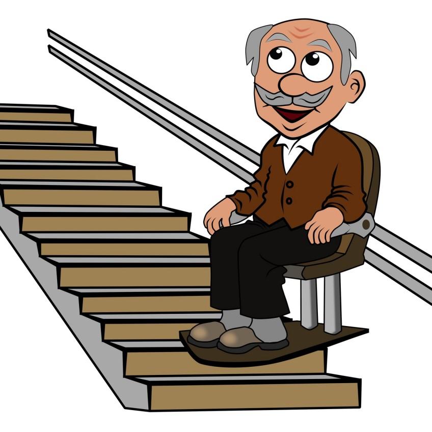 Senior auf Treppenlift - WEG-Urteile fallen verschieden aus