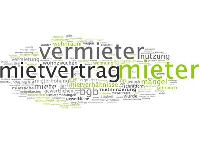 Schlagwortwolke (Vermieter, Mietvertrag, Mieter...) zum Artikel zur WEG-Verwaltung Köln