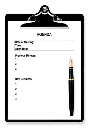 Tagesordnung der WEG-Verwaltung für die Eigentümerversammlung