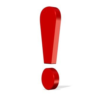 Rotes Ausrufungszeichen - Warnung vor Betrug in der WEG-Verwaltung